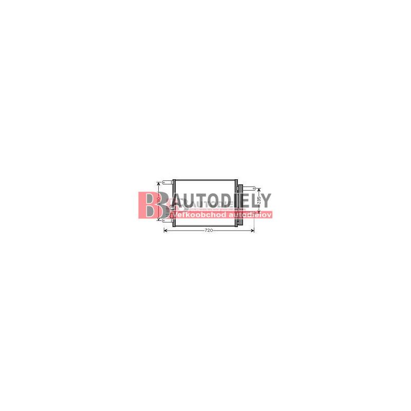 Alfa Romeo 166 9/98-9/03-Chladič klimatizácie