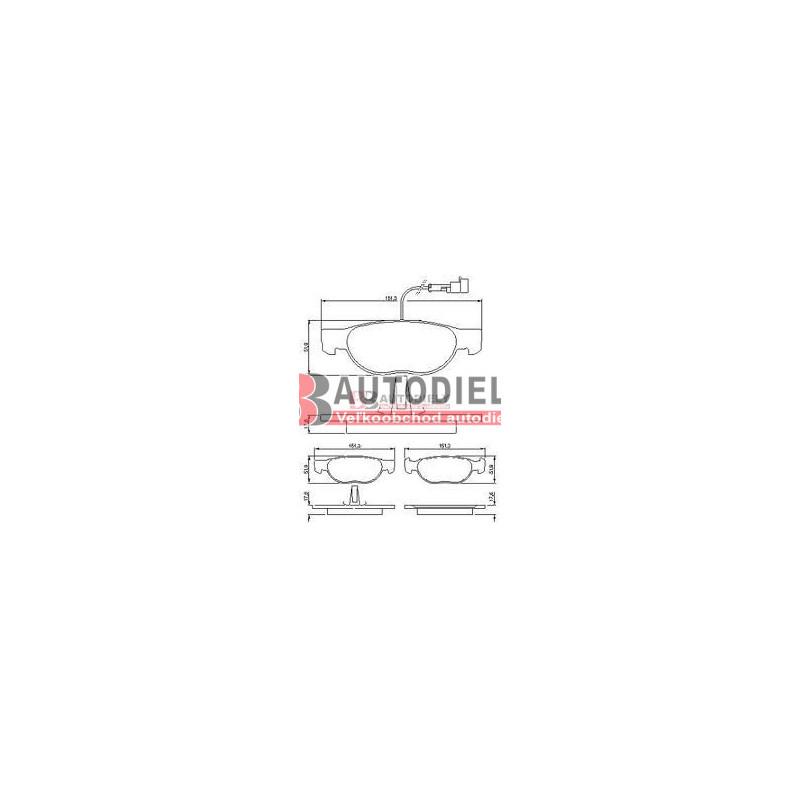 Alfa Romeo 166 9/98-9/03- SADA Predné platničky /zn A.B.S./