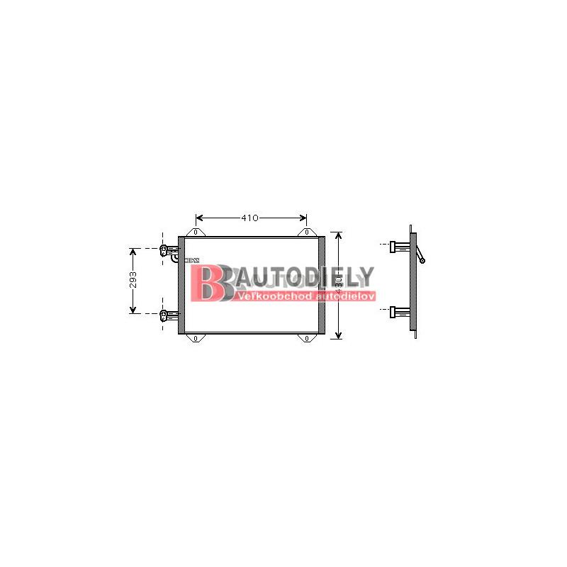 Audi A2 9/00- Chladič klimatizácie