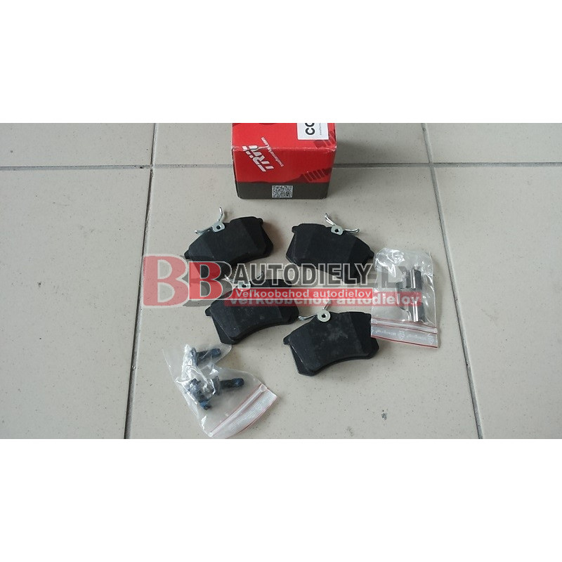 Audi A4 10/04- SADA zadné platničky /TRW/