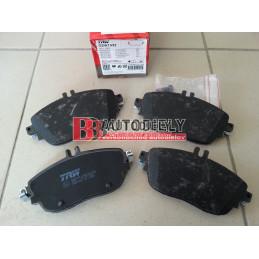 MERCEDES BENZ A W176 6/2012- Predné platničky, SADA /výrobca TRW/