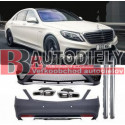 BODY KIT W222 13- Mercedes S65 AMG Black