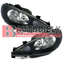 Čierne svetlomety PEUGEOT 206 98-06