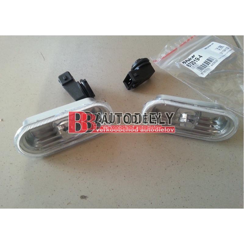VW PASSAT B4 10/93-9/96- SADA Bočné smerovky L+P /biele-číre/