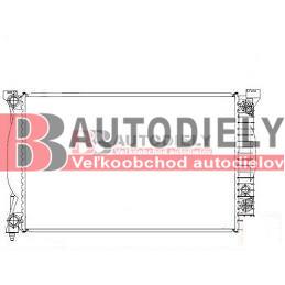 Audi A4 10/00-9/04- Chladič vodný pre 3,0i