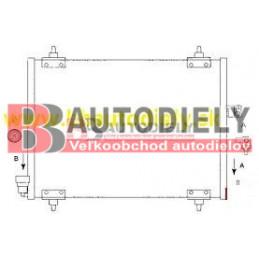 PEUGEOT 807 6/02- Chladič klimatizácie 2,0i- 2,0HDi-2,2HDi