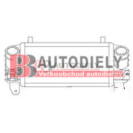 Audi A2 9/00- Chladič vzduchu /intercooler/