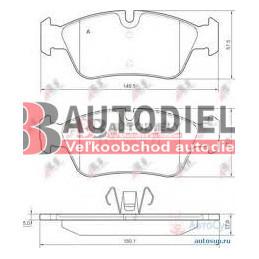 BMW 1 E87 9/04- Predné platničky /zn. A.B.S./ - 120i-120d-123d