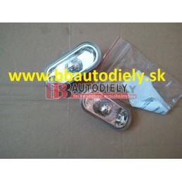 Audi A4 3/99-9/00- Bočné smerovky SADA /biele-priehľadné/