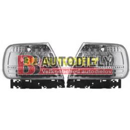 Audi A4 3/99-9/00- Zadné svetla SADA Tuning LED /strieborné/