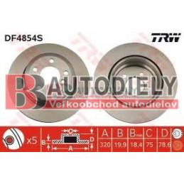BMW X5 E70 2/07- Zadné kotúče SADA /TRW/ -320mm