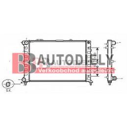 Alfa Romeo 166 9/98-9/03-Chladič vody /2,0TS-2,5i-3,0i/