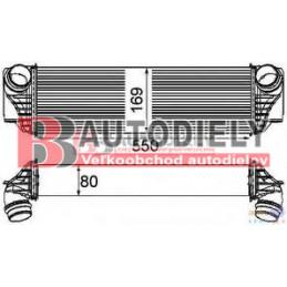 BMW 5 F10 5 3/2010- Chladič vzduchu - Intercooler - 2,0D-3,0D