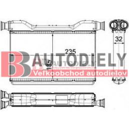 Radiátor kúrenia /pre všetky typy motorov/