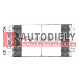 FIAT DOBLO 11/05- Chladič klimatizácie /1,3JTD-1,9JTD/