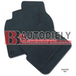 Textilné rohože čierne SADA 4ks - gulaté príchytky