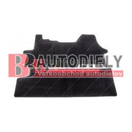 Textilné rohože čierne SADA 2ks /6 sedadiel/