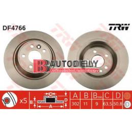 Zadné kotúče SADA /výrobca TRW/ -302mm, plné