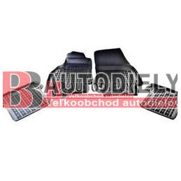 Gumové rohože čierne s vyšším okrajom SADA 3ks