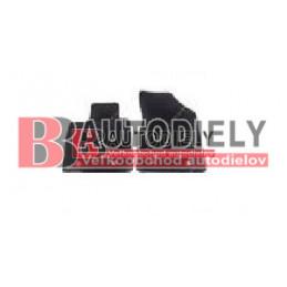 Textilné rohože čierne SADA 2ks - pre 2 sedadlá