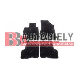 Textilné rohože čierne SADA 5ks - pre 5 sedadiel