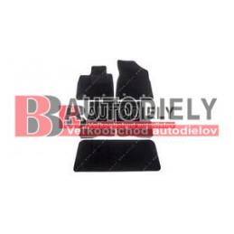 Textilné rohože čierne SADA 5ks - pre 7 sedadiel