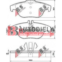 MERCEDES BENZ C W204 3/2011- Zadné platničky, Sada /výrobca ABS/