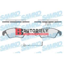AUDI A4 11/07- Predné platničky, Sada /Výrobca SAMKO/ -brzd systém TRW