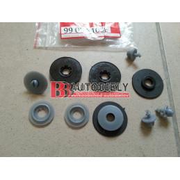 Plastové príchytky pre čierne rohože s vyšším okrajom gulaté SADA 4ks